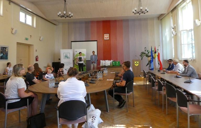 Podsumowanie etapu powiatowego konkursu Plastycznego w Urzędzie Miejskim w Namysłowie.